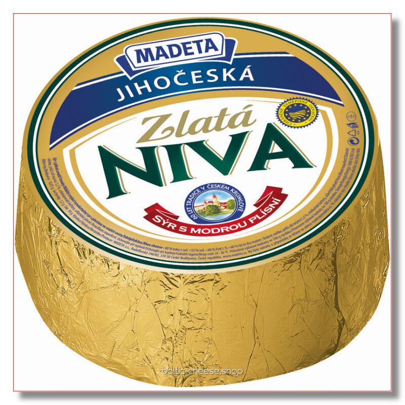 СЫР С ГОЛУБОЙ ПЛЕСЕНЬЮ NIVA GOLD ~ 2,7 кг