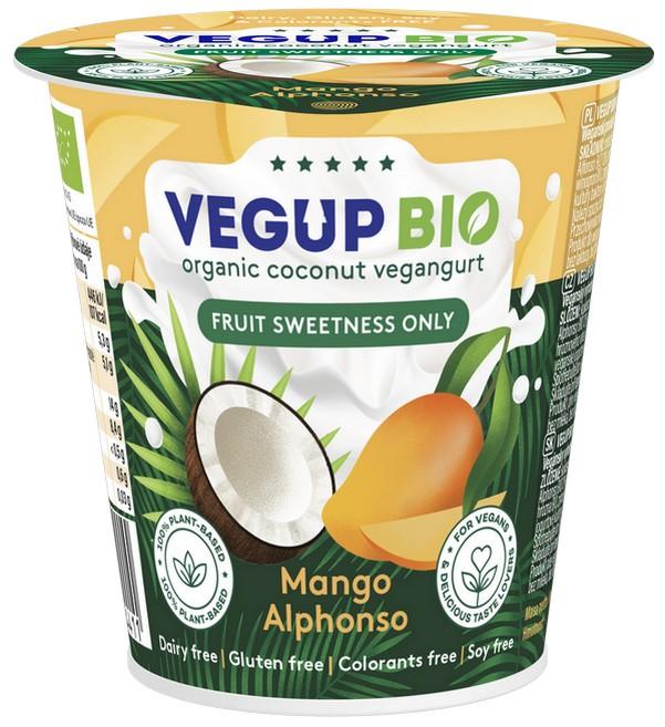 Vegup BIO вегангурт из кокосового молока ALPHONSO Mango 140 г