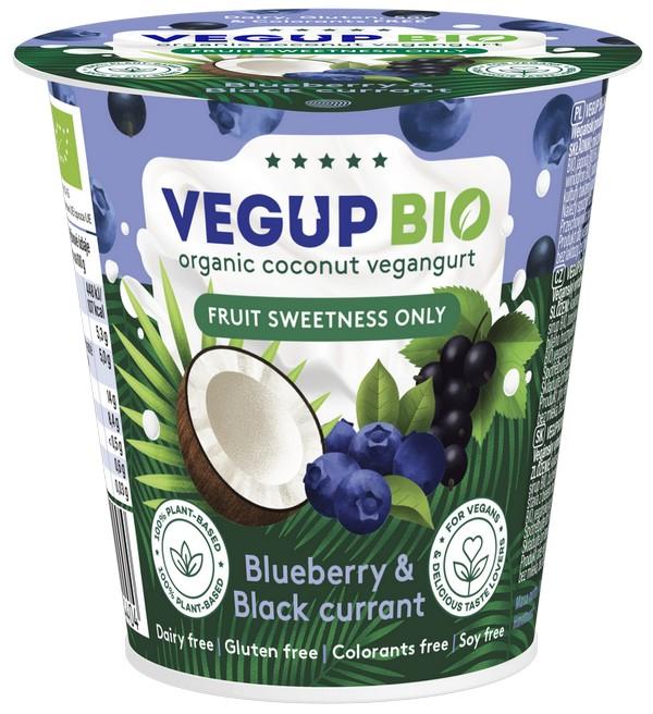 Vegup BIO ALPHONSO вегангурт из кокосового молока , черники и черной смородины 140 г.