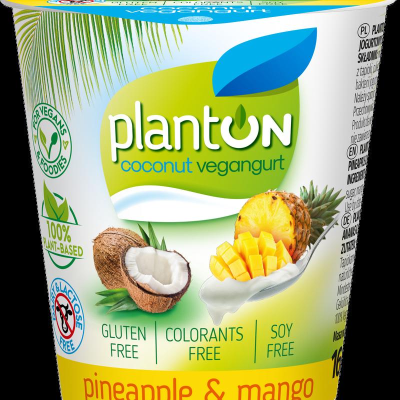 Planton vegangurt из кокосового молока ананас-манго 160 г.