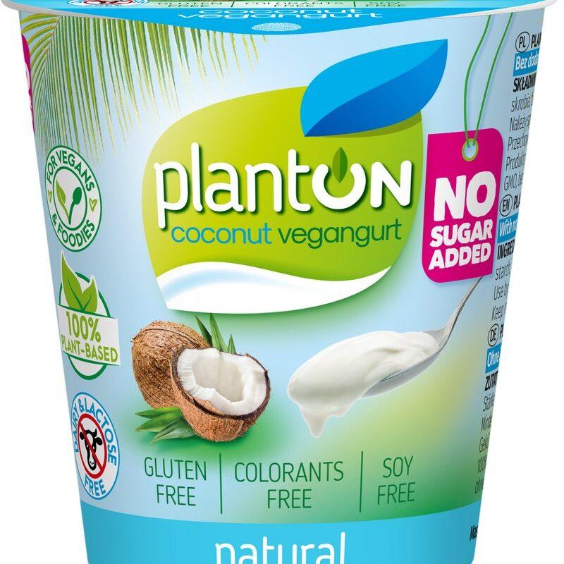 Planton vegangurt из кокосового молока натуральный без сахара 160 г.